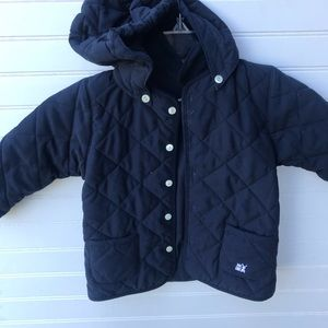 Emile Et Rose Quilted Hooded Driving Coat EUC